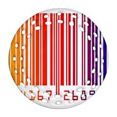 Code Data Digital Register Ornament (round Filigree)