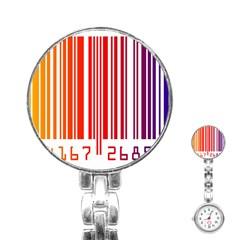 Code Data Digital Register Stainless Steel Nurses Watch