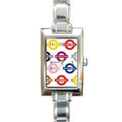 Underground Signs Tube Signs Rectangle Italian Charm Watch