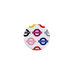 Underground Signs Tube Signs 1  Mini Buttons