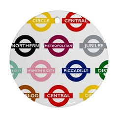 Underground Signs Tube Signs Ornament (round)