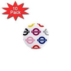 Underground Signs Tube Signs 1  Mini Magnet (10 Pack)