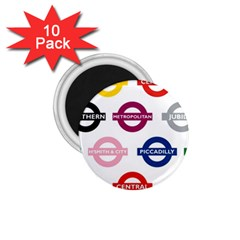 Underground Signs Tube Signs 1.75  Magnets (10 pack)