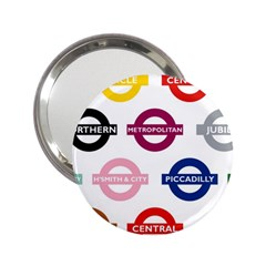 Underground Signs Tube Signs 2.25  Handbag Mirrors