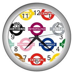 Underground Signs Tube Signs Wall Clocks (silver)