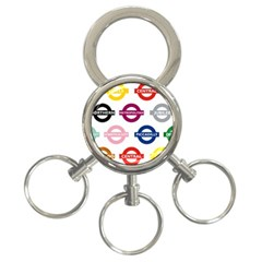 Underground Signs Tube Signs 3 Ring Key Chains