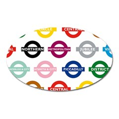 Underground Signs Tube Signs Oval Magnet