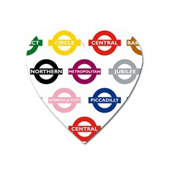 Underground Signs Tube Signs Heart Magnet