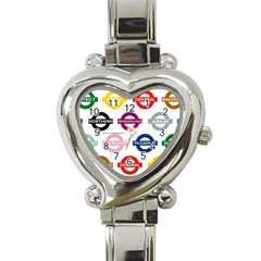 Underground Signs Tube Signs Heart Italian Charm Watch