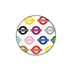 Underground Signs Tube Signs Hat Clip Ball Marker (4 pack)