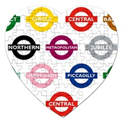 Underground Signs Tube Signs Jigsaw Puzzle (Heart)