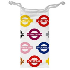 Underground Signs Tube Signs Jewelry Bag