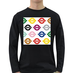 Underground Signs Tube Signs Long Sleeve Dark T Shirts