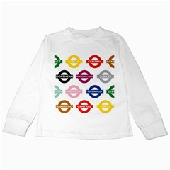 Underground Signs Tube Signs Kids Long Sleeve T Shirts