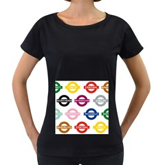 Underground Signs Tube Signs Women s Loose Fit T Shirt (black)