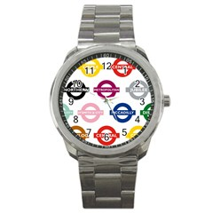Underground Signs Tube Signs Sport Metal Watch