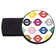 Underground Signs Tube Signs Usb Flash Drive Round (4 Gb)