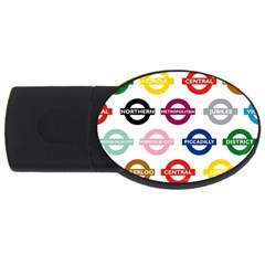 Underground Signs Tube Signs Usb Flash Drive Oval (4 Gb)