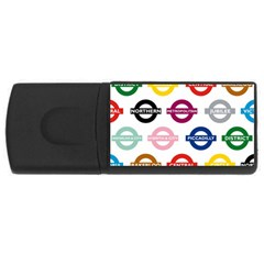 Underground Signs Tube Signs USB Flash Drive Rectangular (4 GB)