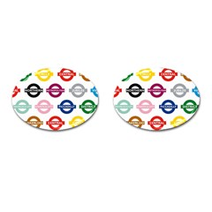 Underground Signs Tube Signs Cufflinks (oval)