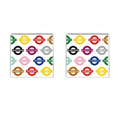 Underground Signs Tube Signs Cufflinks (square)