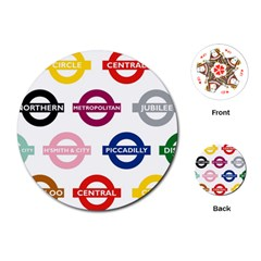 Underground Signs Tube Signs Playing Cards (Round)