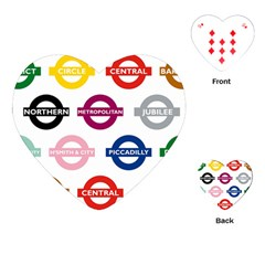 Underground Signs Tube Signs Playing Cards (Heart)