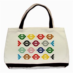 Underground Signs Tube Signs Basic Tote Bag
