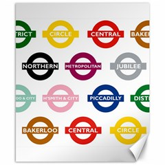 Underground Signs Tube Signs Canvas 8  X 10