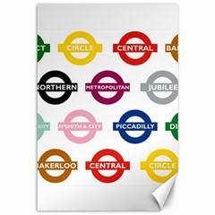 Underground Signs Tube Signs Canvas 12  X 18