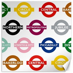 Underground Signs Tube Signs Canvas 20  X 20