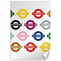 Underground Signs Tube Signs Canvas 20  X 30