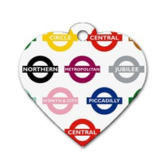 Underground Signs Tube Signs Dog Tag Heart (One Side)