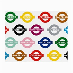 Underground Signs Tube Signs Small Glasses Cloth (2 Side)