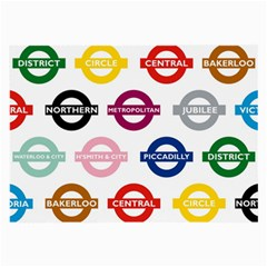 Underground Signs Tube Signs Large Glasses Cloth