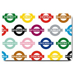Underground Signs Tube Signs Large Doormat
