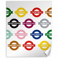 Underground Signs Tube Signs Canvas 11  X 14