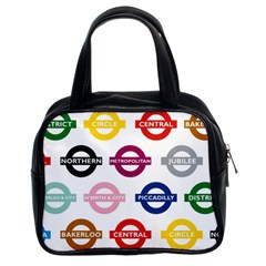 Underground Signs Tube Signs Classic Handbags (2 Sides)