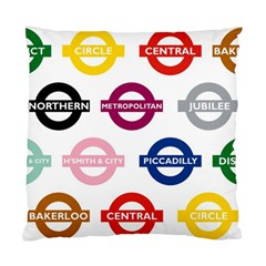 Underground Signs Tube Signs Standard Cushion Case (two Sides)