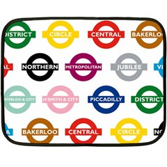 Underground Signs Tube Signs Fleece Blanket (mini)