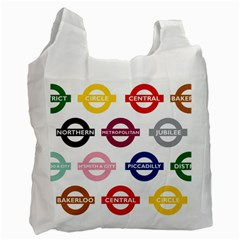 Underground Signs Tube Signs Recycle Bag (two Side)