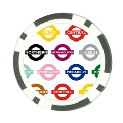 Underground Signs Tube Signs Poker Chip Card Guard (10 pack)