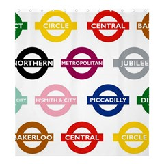 Underground Signs Tube Signs Shower Curtain 66  X 72  (large)