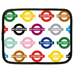 Underground Signs Tube Signs Netbook Case (XL)