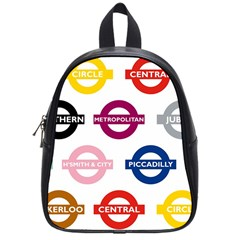 Underground Signs Tube Signs School Bags (small)