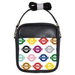 Underground Signs Tube Signs Girls Sling Bags