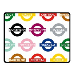 Underground Signs Tube Signs Fleece Blanket (small)