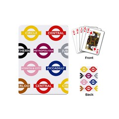 Underground Signs Tube Signs Playing Cards (mini)