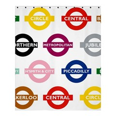 Underground Signs Tube Signs Shower Curtain 60  X 72  (medium)