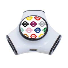 Underground Signs Tube Signs 3-Port USB Hub